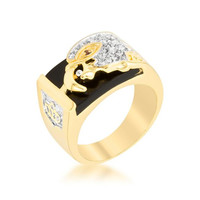 Cubic Zirconia Eagle Men's Ring, size : 14