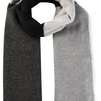 The Elder Statesman color blocked scarf