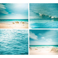 nautical decor print beach photography coastal prints 8x8 8x10 8x12 teal wall art aqua teal blue abstract waves water aquamarine aqua summer