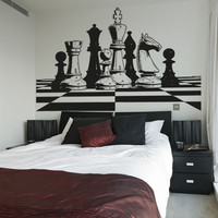 Vinyl Wall Decal Sticker Chess Board #OS_AA691