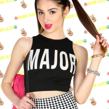 MAJOR LAZER CROP TOP