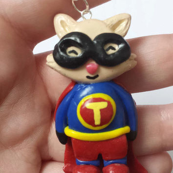 Super Teemo League of Legends Keychain - Geekery Video Games Pendant - Captain Teemo Lol Champion Necklace - League of Legends - Super Teemo