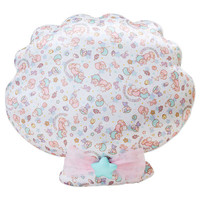 Little Twin Stars Kiki Lala Shell Shaped Cushion Sea of Clouds SANRIO JAPAN