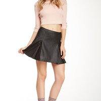 Faux Real Varsity Skirt