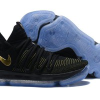 Nike KD 10 Black/Yellow For Sale