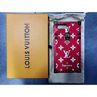 LV Hot ! iPhone X iPhone 8 iPhone 8 Plus - Button Phone Case For iphone 6 6s 6plus 6s plus iPhone 7 iPhone 7 plus Red Case