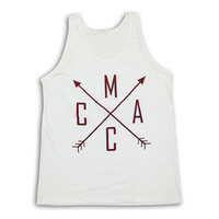 Men's White Arrow Tank
