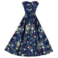 Vintage 1950's Jeannette Alexander Floral Cotton Dress
