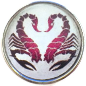 Scorpio Tribal Zodiac Sign Horoscope Symbol 18MM - 20MM Charm for Snap Jewelry New Item
