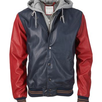 Hooded Varsity Jacket - Aeropostale