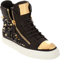 Giuseppe Zanotti Embellished Zip High Top at Barneys.com