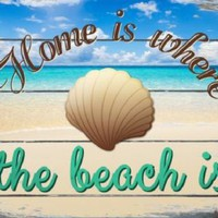 Home is Where the Beach Is  Metal Sign