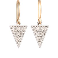 Adina Reyter Pave Diamond Solid Triangle Earrings