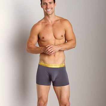 John Sievers California Gold Natural Pouch Boxer Briefs Steel 25123-080 at International Jock Underwear & Swimwear