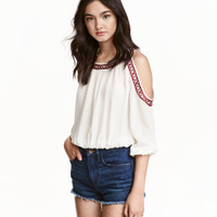 H&M Open-shoulder Blouse $34.99