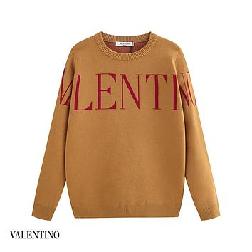 Valentino fashion trend wild letter print long sleeve sweater 1#