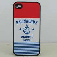 Blue  Anchor Hard Case Cover for Apple iPhone 4gs Case, iPhone 4s Case, iPhone 4 Hard Case