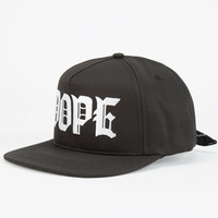 Dope M.O.B. Mens Tie Back Hat Black/White One Size For Men 24635912501