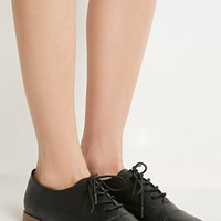 Classic Faux Leather Oxfords