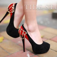 New Arrival Suede Upper Stiletto Heels Closed-toe  Prom/Evening  Shoes: tidestore.com