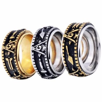 Spinner Freemason Band rings