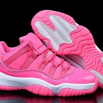 ONETOW Jacklish Womens Nike Air Jordan 11 Low Girls Size Pink White For Sale
