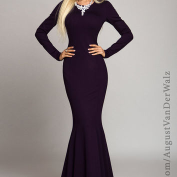 Sexy dress, Long dress, Maxi dress, Evening dress, mermaid,  purple dress Spring Dress, Autumn Dress, long sleeve dress, Winter dress