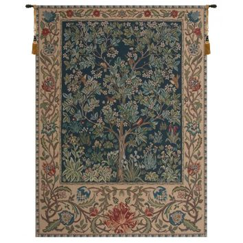 Tree of Life -  William Morris Tapestry Wall Art Hanging
