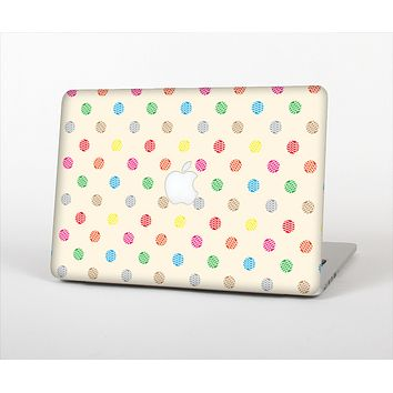 The Tan & Colored Laced Polka dots Skin Set for the Apple MacBook Pro 13""