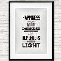 Harry Potter Poster, inspirational quote, nursery decor, movie poster, minimalist typography art, black and white wall decor,