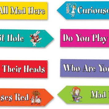 alice in wonderland street sign cutouts Case of 24