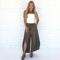 Talk Of The Town Tulip Pants in Olive