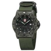 Men's Luminox Black Ops Carbon 8800 Series Green Strap Watch
