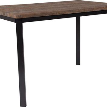 "Avalon 30"" x 45.75"" Rectangular Dining Table in Distressed Driftwood Finish"