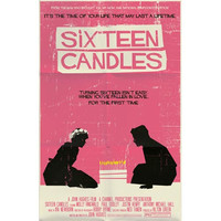 Sixteen Candles vintage style movie poster