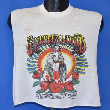 80s Grateful Dead It's Worth the Trip Distressed t-shirt Large
