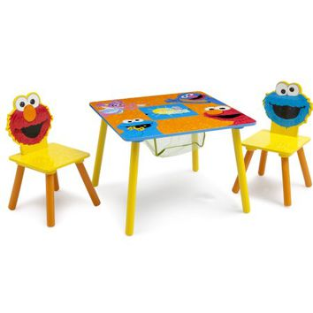 Sesame Street Toddler Table and Chair Set with Storage - Walmart.com