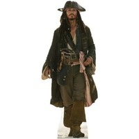 Captain Jack Sparrow - Disney's Pirates of the Caribbean - Advanced Graphics Life Size Cardboard Standup