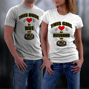 Boston Bruins, Boston Bruins T shirt, Boston Bruins Couples Tshirts, Matching Couples Shirts, Wife/ Husband T Shirts