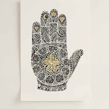 Magical Thinking Foiled Henna Hand Art Print