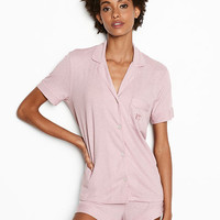 The Short Sleeve Knit PJ - Victoria's Secret