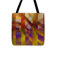 "Abstract Design Tote Bag 13"" x 13"""