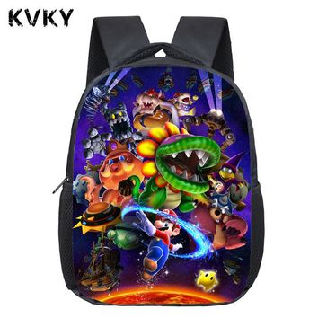 2017 Anime Super Mario Backpack Boys Girls School Bags Super Saiyan Backpack For Kids Daily Bags Bonnie Mario B Backpacks