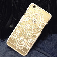 Hollow Out Lace Case Cover for iphone 5se 5s 6 6s Plus iphone 7 Gift + Free gift box
