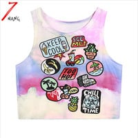 Comfortable Cartoon Print Tank