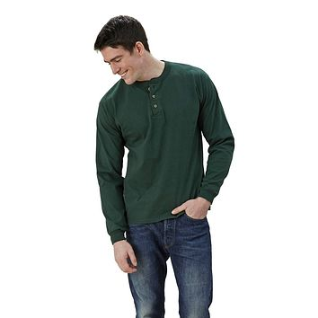 Adult Long Sleeve Henley Classic Fit