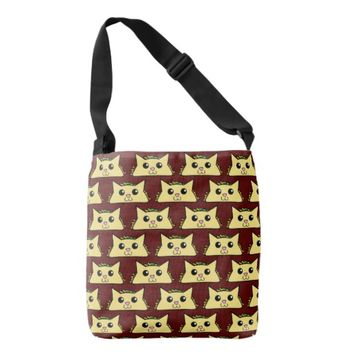 Kawaii Taco Cat TP Crossbody Bag