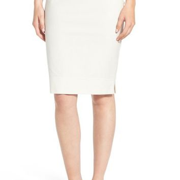 Eileen Fisher Stretch Crepe Pencil Skirt | Nordstrom