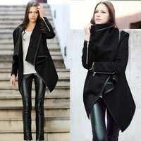 2017 Winter and Autumn Women Long Cashmere Trench Overcoats Desigual DownJackets Ladies Wool Coat Manteau Abrigos Mujer freeship
