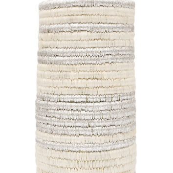 Silver Lining Woven Vase